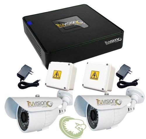 video vigilancia cctv dvr 4 canaleshd + cámaras seguridad