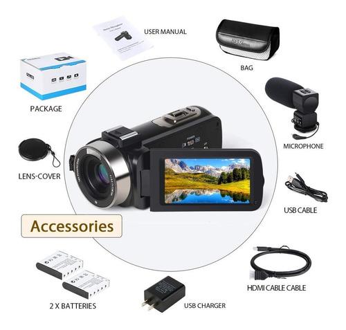 videocámara aabeloy digital  vlogging full hd 1080p 30fps