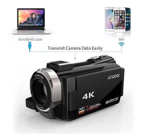videocamara andoer negra 4k 1080p 48mp wifi original