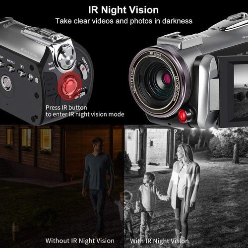 videocámara cámara de vídeo 4k 30fps ordro ultra hd youtube