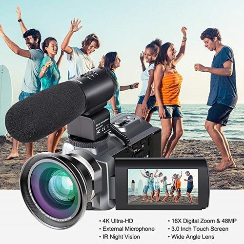 videocámara camcorder, ansteker ultra-hd 1080p 24mp