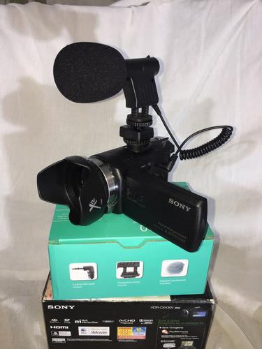 videocámara profesional sony micrófono externo