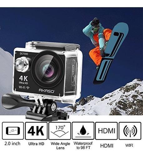 videocamara sumergible dv wifi aakaso ek7000 4k action