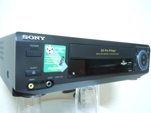 Videocasetera Sony Vhs De 4 Cabezas Y Joystick Funcionando Al 100