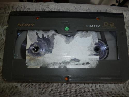 videocassette profesional sony d2m-22m