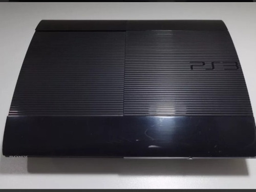 videogame playstation 3 super slim, 200 gb, com 1 jogo