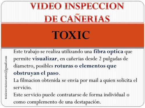 videoinspeccion de cañerias destapaciones con maquina caños