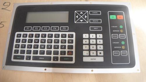 videojet excell 273i, teclado.