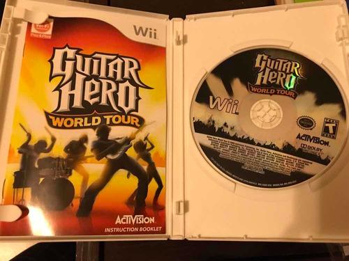 videojuego de guitar hero world tour para wii