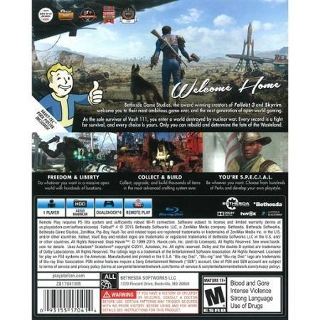videojuego fallout 4 (ps4)