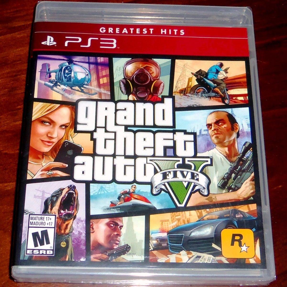 Gta Grand Theft Auto V 5 Ps3: Videojuego Grand Theft Auto V Gta 5 Ps3 Físico Nuevo