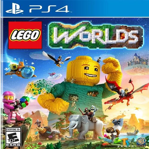videojuego lego worlds ps4 nuevo-sellado