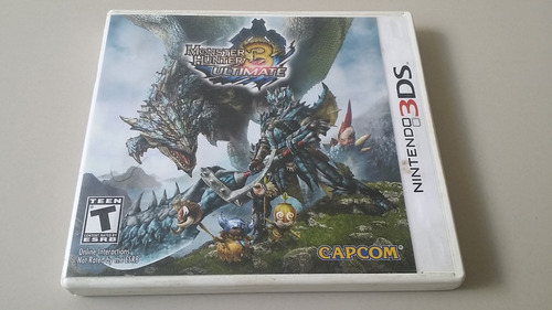 videojuego monster hunter 3 ultimate nintendo 3ds original