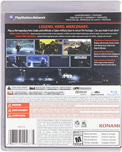 videojuego ps3 metal gear solid ground zeroes