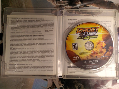 videojuego ps3 ratchet & clank all 4 one fisico