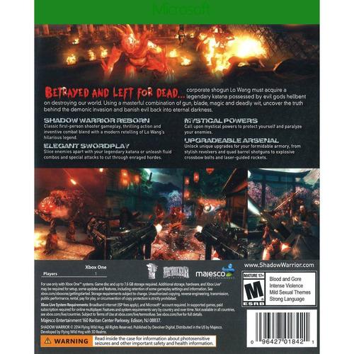 videojuego shadow warrior (xbox one)