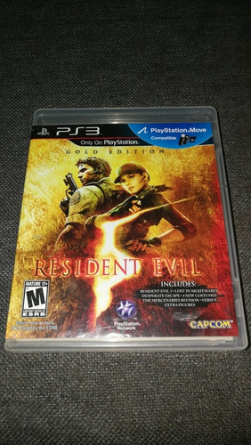 vídeojuego sony playstation ps3 resident evil 5 gold edition