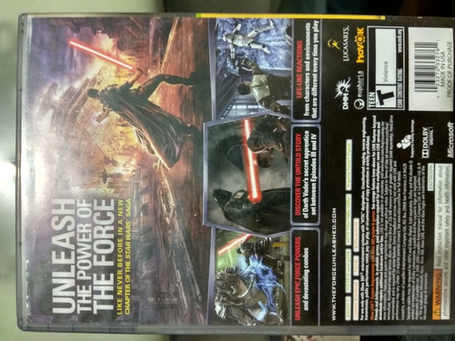 videojuego star wars the force unleashed para xbox 360