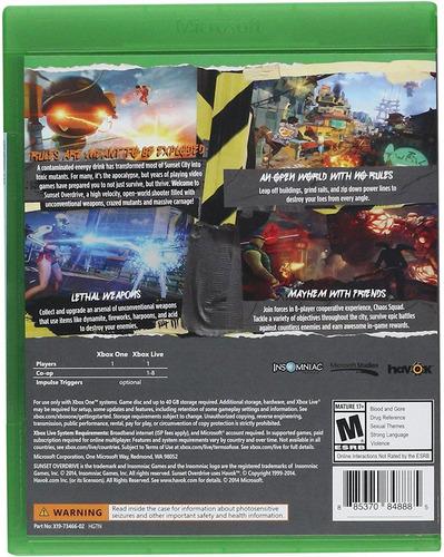 videojuego sunset overdrive para xbox one
