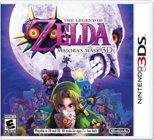 videojuego the legend of zelda majora's mask nintendo 3ds