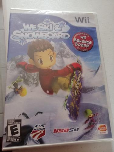 videojuego we ski & snowboard nintendo wii
