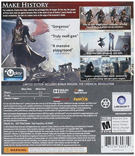 videojuego xbox one assassin creed unity