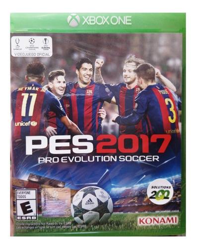 videojuego xboxone pes 2017 pro evolution soccer - nuevo