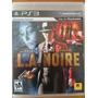L.a. Noire - Ps3 - Playstation 3