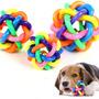 Rainbow Pet Juguetes Cordón Tejido Cascabeleo Perro De Bell