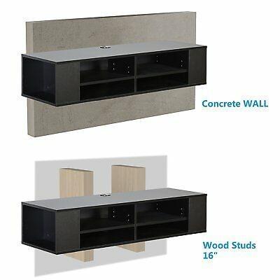 Soporte de TV montado en la pared Soporte de la consola de medios 4 estantes que