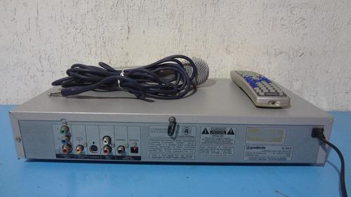 videokê dvdokê gradiente mp3  - k 40/3 - microfone/ controle