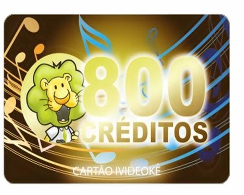 videoke cartão pré-pago 800 créditos p/ pop 300/750/950/850