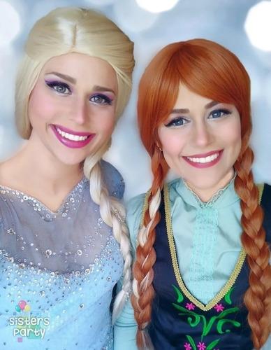 videollamada con las princesas anna y elsa de frozen