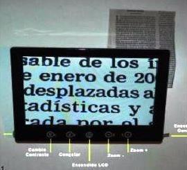 videolupa portatil 9 pulgadas inalambrica