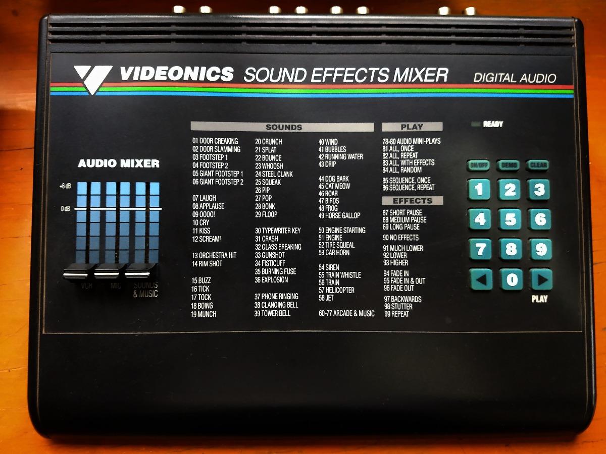 Videonics Sound Effects Mixer Digital Audio - $ 1,000 00