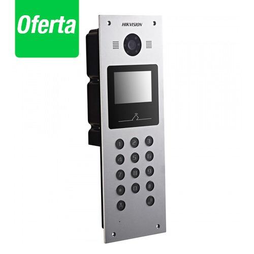 videoportero metálico hikvision cámara 1.3mp  dskd6002vm