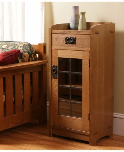 videos de carpinteria - arts and crafts glass front cabinet