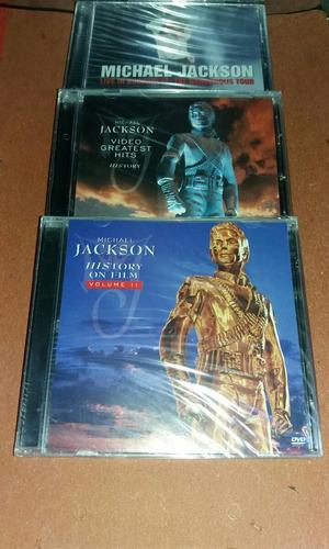videos de michael jackson pack de 3 dvds originales y nuevos