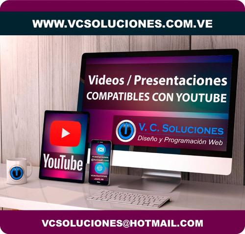 videos publicitarios youtube, presentaciones para compañias