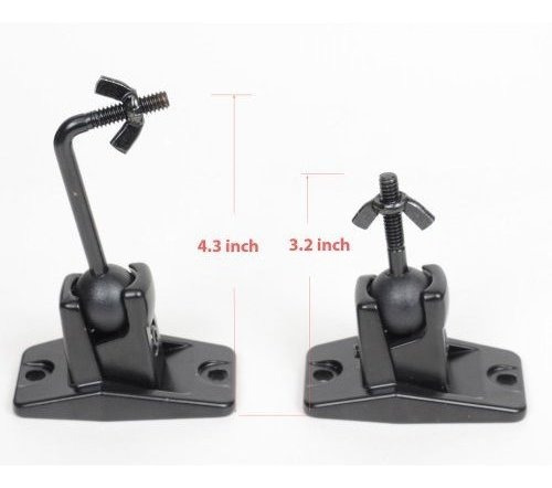 videosecu one pair black univaersal soporte de montaje de al