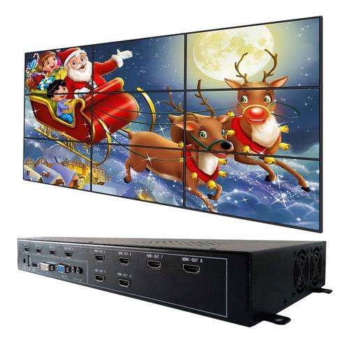 videowall 10 pantallas 3x3 4x2 2x5 hdmi dvi vga usb a hdmi