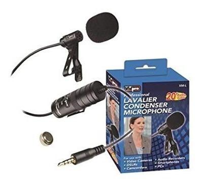 vidpro xml lavalier condenser microphone para
