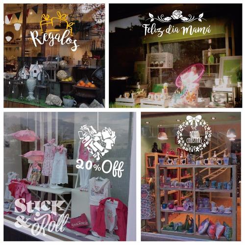 vidrieras decoración comercial, descuentos y promociones