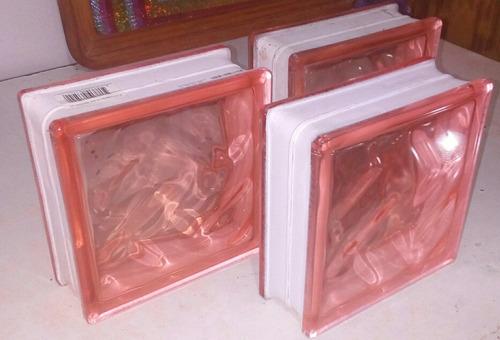 vidrio block rosa