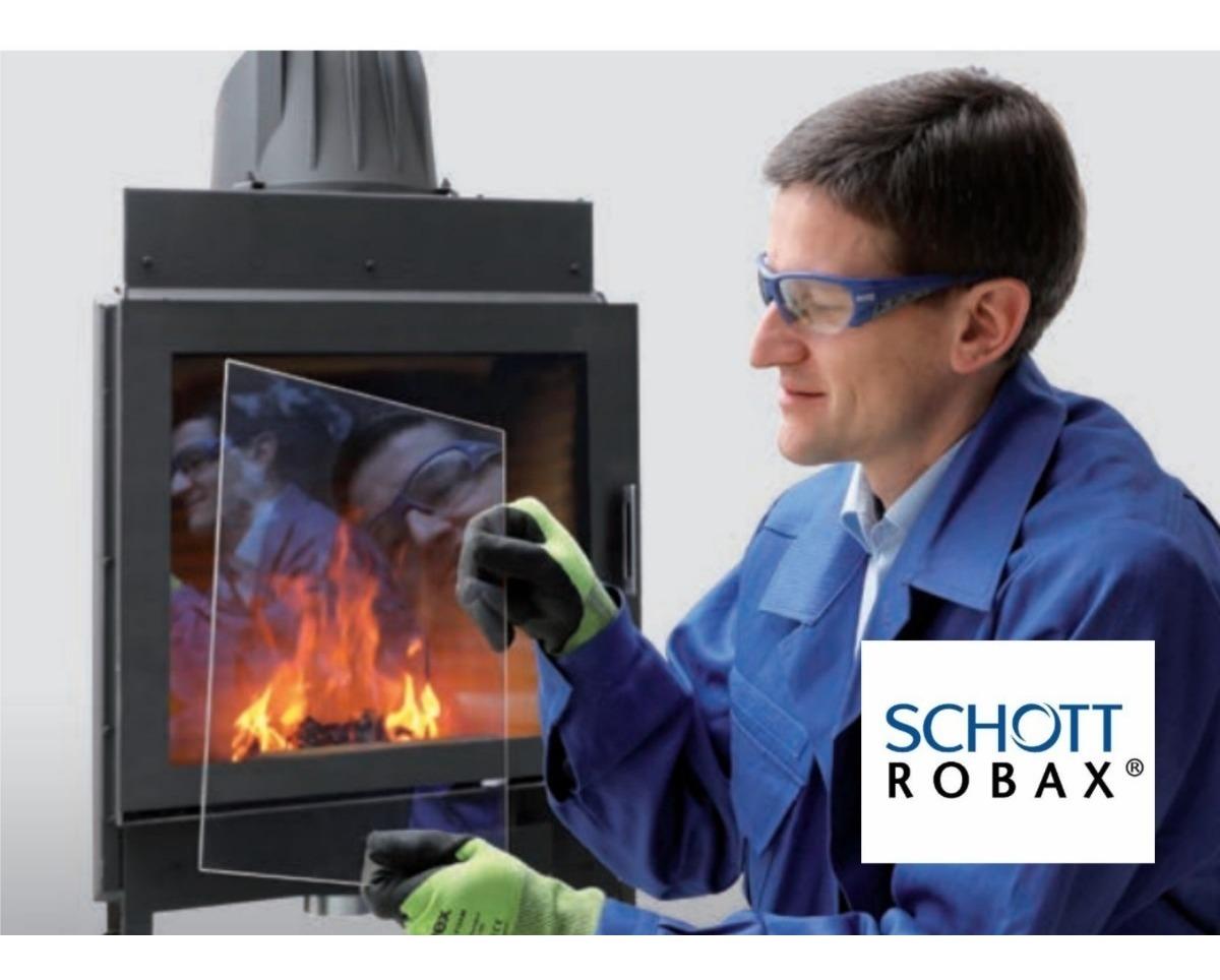 Robax ® cristal chimenea horno de vidrio de 24 x 31 cm de espesor 3 o 4 o 5 mm