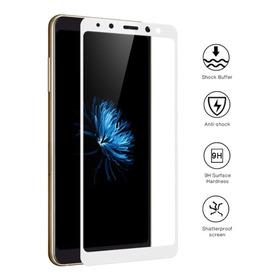 Vidrio Curvo 3d Samsung Galaxy A8 2018 Blanco