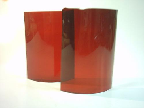 vidrio curvo rojo original para farol de señalero ffcc
