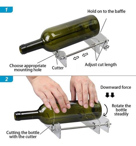 vidrio diy botella vino cortador máquina de corte jar arte