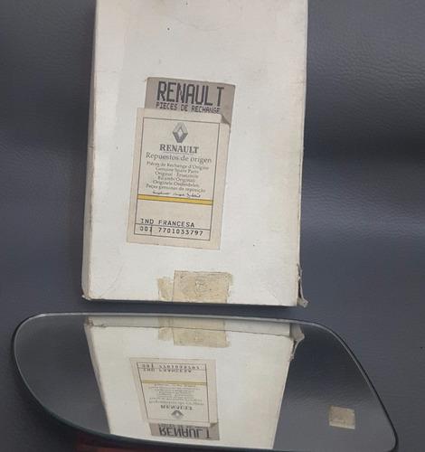 vidrio espejo retrovisor derecho r19 original renault