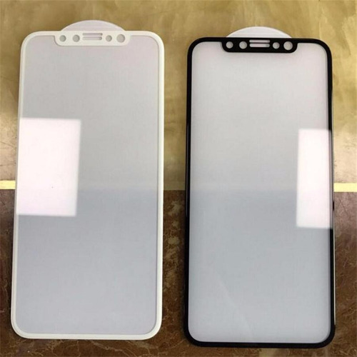 vidrio glass para iphone x negro y blanco